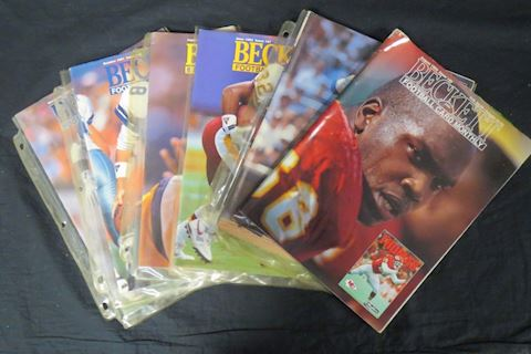 Lot of 6 Beckett Sport Card Monthly Magazines