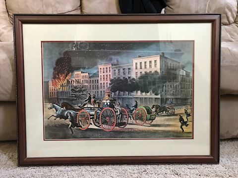The Life of a Fireman - Currier & Ives  by Cameron