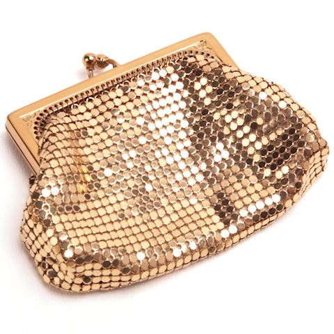Vintage gold mesh coin purse