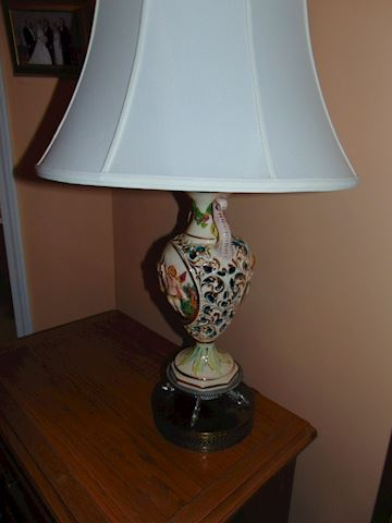 Two Porcelain  Lamps