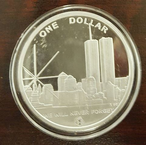Commemorative One Dollar Coin Freedom Tower July 4