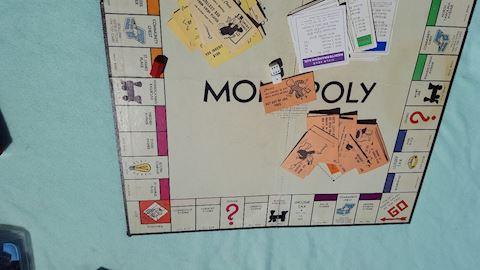 Vintage Monopoly Game Board & Pieces
