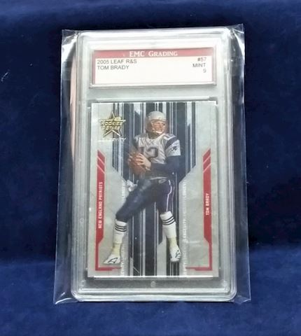 Tom Brady Football Card in case