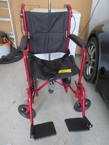 Transfer Chair, Walker, Quad Cane & IV Pole