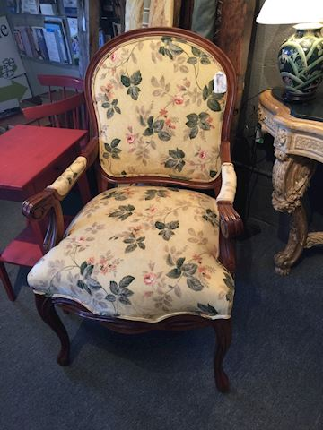 Floral French AR Chair