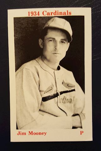 1934 St. Louis Cardinals Jim Mooney Baseball Card