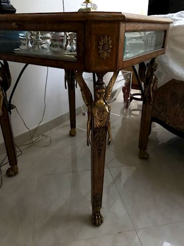 Louis XV Style Table Curio Winged Female Bust Legs