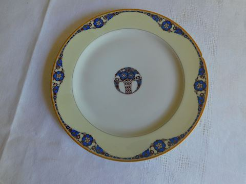 006 Haviland & Co Limoges Blue Floral  Plate