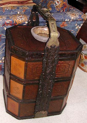Vintage Chinese Large Tiered Wedding Basket