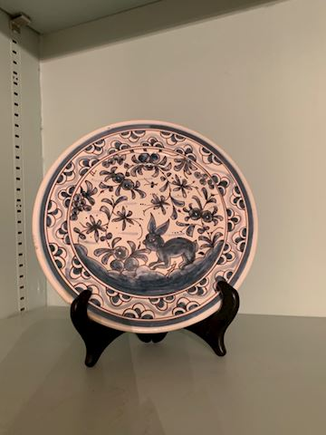 MB. 116.   Hand painted   Bunny plate