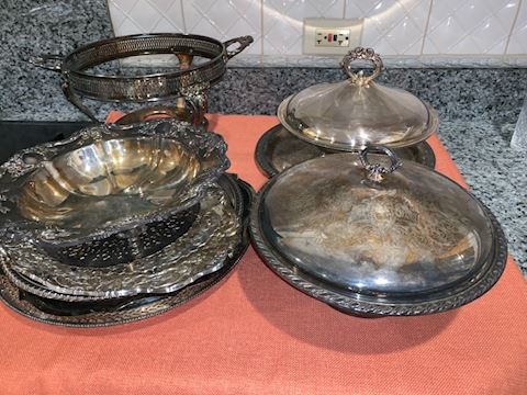 Mixed lot silver plate