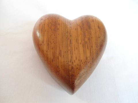 Hand Carved Heart Ring Box
