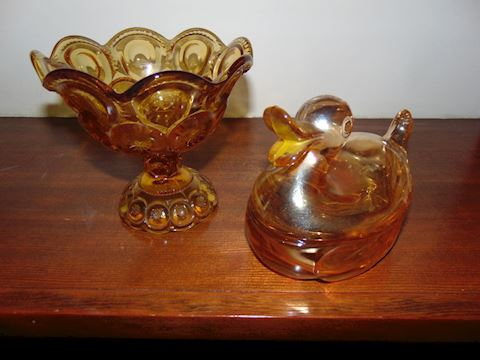 Carnival Glass and Coin Glass