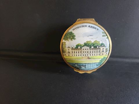 BILSTON AND BATTERSEA WOBURN ABBEY TRINKET BOX
