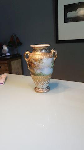 423012 Porcelin Vase with 2 Handles