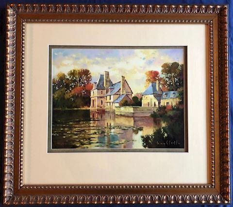 Framed Print. French Chateau