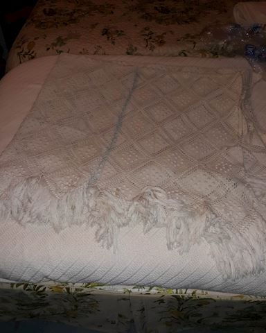 """MB  333   """"Handmade - Crocheted"""" Twin Bed Cover"""