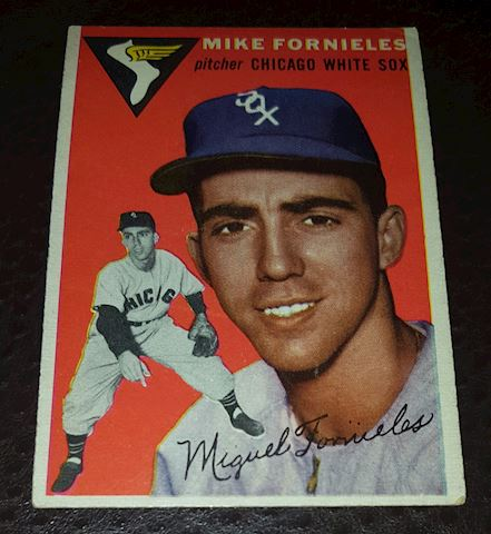 54 Mike Fornieles Chicago White Sox Baseball Card