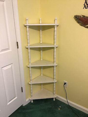 White Corner Wooden Shelf