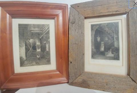 Signed Etchings by Eugene E. Loving, New Orleans