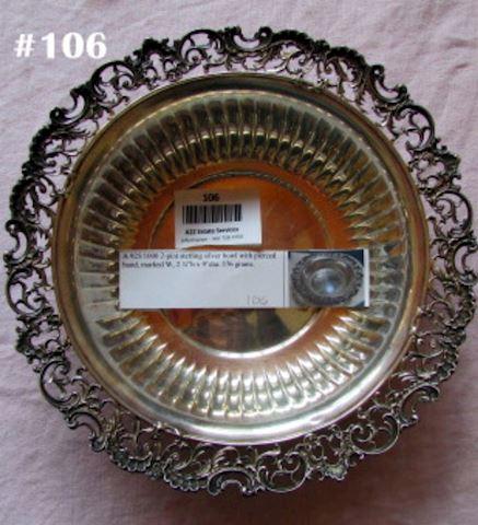 #106 sterling bowl