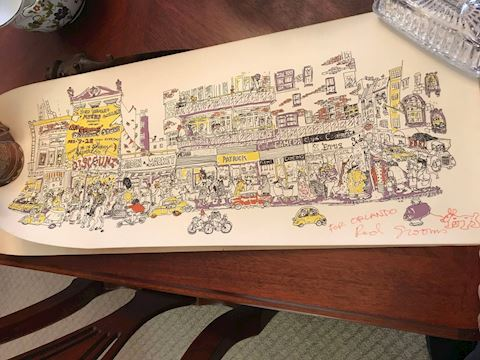 SIGNED Red Grooms Lithograph