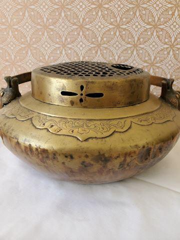Large brass incense burner