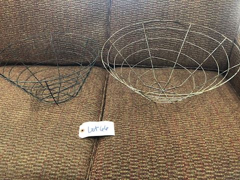 Lot of 2 Large Wire Baskets LOT 66