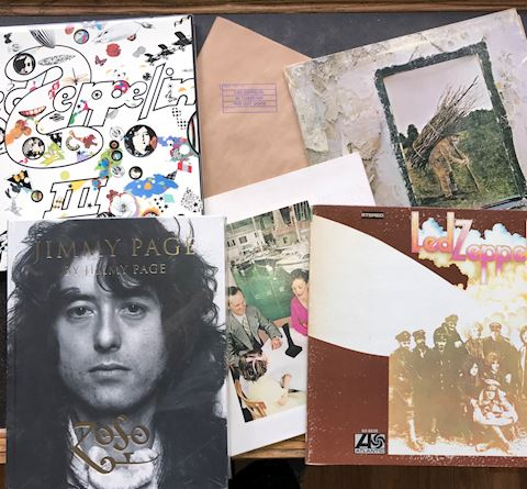 5 Led Zepplin Albums and book
