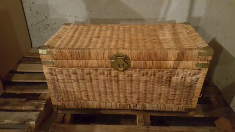456142 Storage Trunk made of Wicker