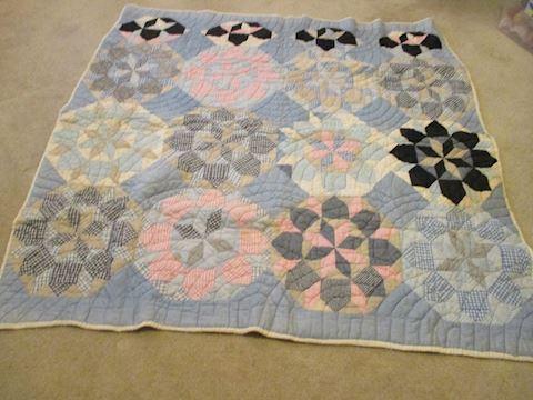Vintage Hand Quilted Blanket