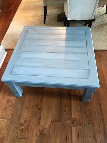 Lane blue square coffee table