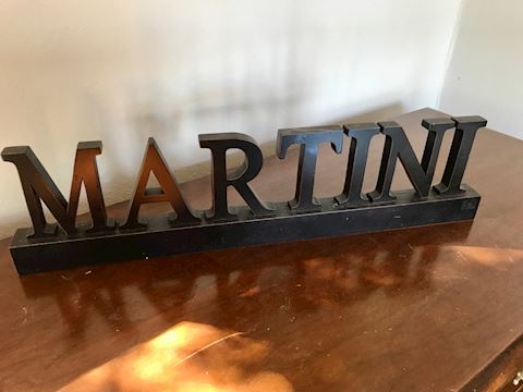 Martini cocktail bar decor sign -  happy Hour!