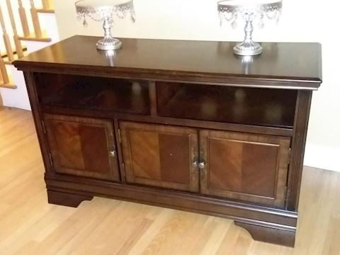 Wood Credenza TV Stand with Media Storage