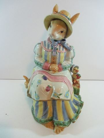 Fitz & Floyd Classic Rabbit Cookie Jar