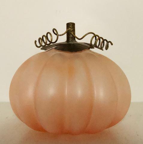 Art Glass Pumpkin
