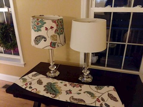 Decorative Table Top Lamps Paisley Shade Cover