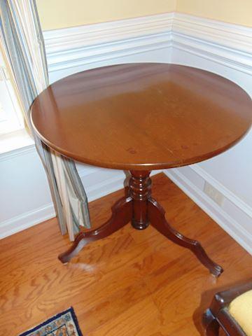 Vintage Three-Legged Pedestal Table