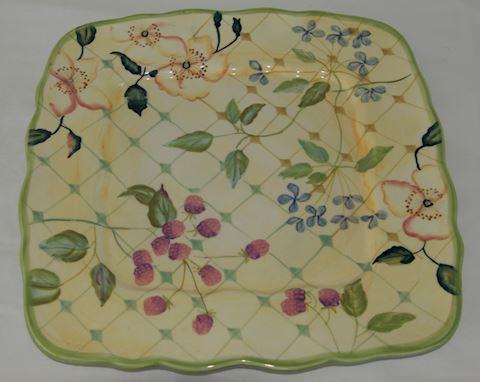 Floral Serving Platter