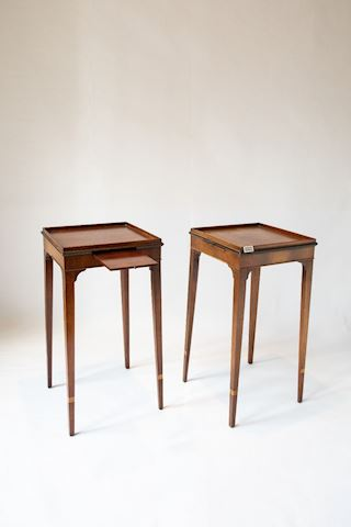 Lot 0002 Candle  Mahogany Tables Hepplewhite