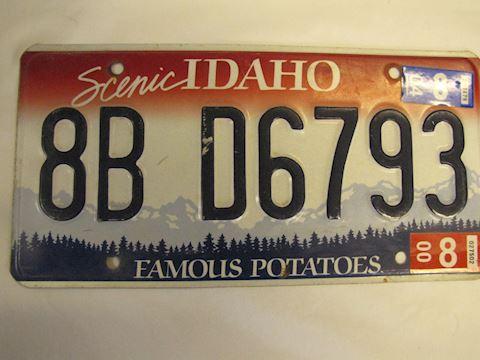 2000-2004 Idaho License Plate