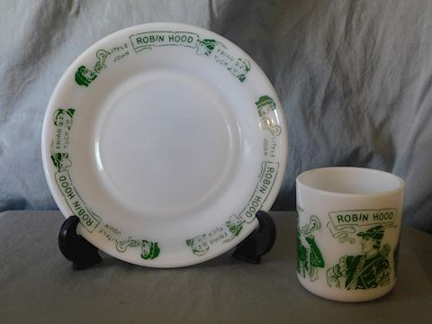 Children's plate and mug