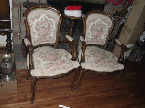 Pair of Parlor Arm Chairs
