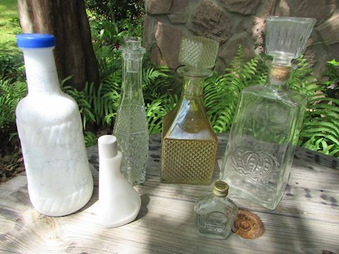 Vintage 6 pc lot of Decanters & Bottles