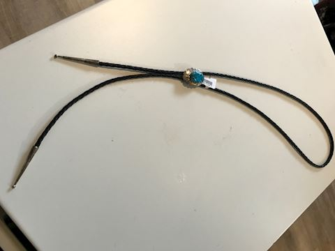Blue Ridge Turquoise sterling silver bolo tie