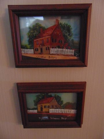 Old Salem Painted Glass Paintings