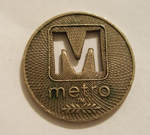 Old Distric of Columbia Metrobus Token