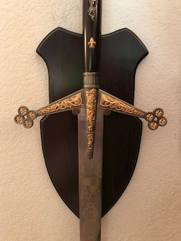 Silver and Gold Claymore Sword