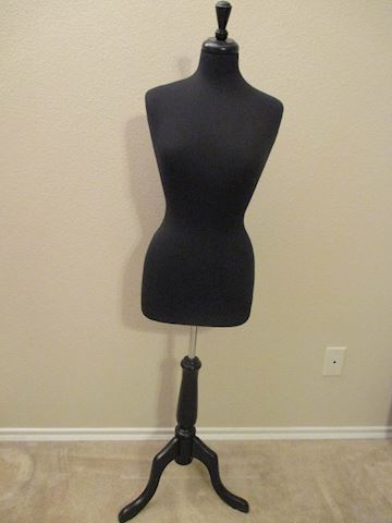 Ladies Display Mannequin Black Adjustable