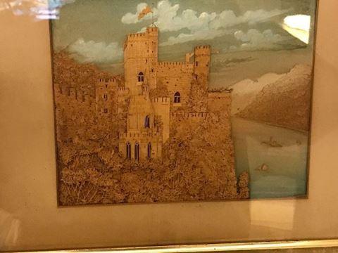 Antique Cork Carving of a Castle